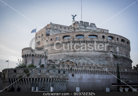 View of Castel Sant'Angelo in Rome, Italy stock photo, View of Castel Sant'Angelo in Rome, Italy at sunset by Stefano Cavoretto