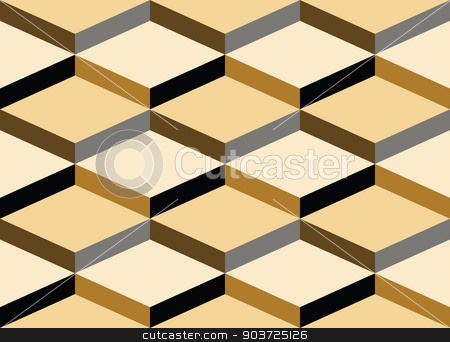 Geometric vector background  stock vector clipart, 3D geometric seamless pattern made of stacked cubes. Vector illustration eps 10 by Portokalis