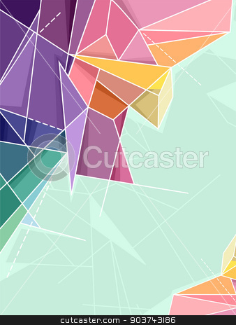 Abstract Background stock photo, Abstract Background Illustration Featuring Random Geometric Patterns by BNP