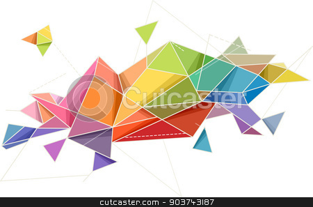Abstract Geometric Design stock photo, Abstract Illustration Featuring Random Geometric Patterns by BNP
