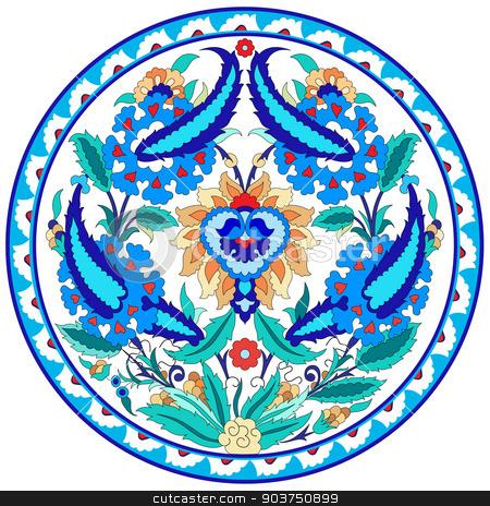 artistic ottoman pattern series fourty seven stock vector clipart, Ornament and design Ottoman decorative arts by Sevgi Dal