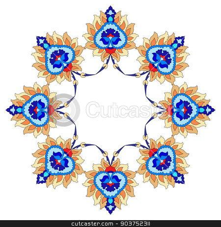 artistic ottoman pattern series fourty nine stock vector clipart, Ornament and design Ottoman decorative arts by Sevgi Dal