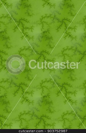 Bright Green Fractal stock photo, Fractal background image with bright green colors. by Henrik Lehnerer