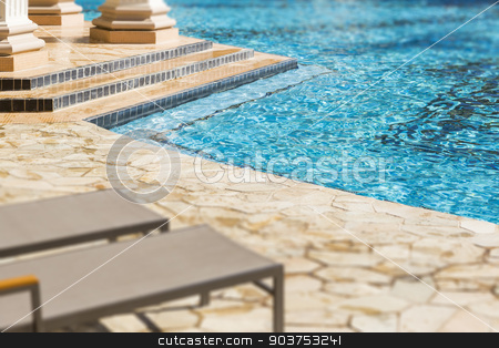 Exotic Luxury Swimming Pool Abstract stock photo, Exotic Luxury Swimming Pool Water and Architecture Abstract. by Andy Dean