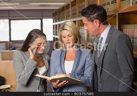 Lawyers in the law library stock photo, Lawyers in the law library at the university by Wavebreak Media