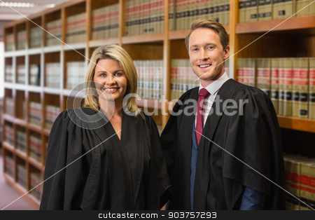 Team of lawyers in the law library stock photo, Team of lawyers in the law library at the university by Wavebreak Media