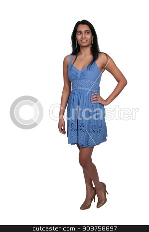 Beautiful Woman stock photo, Beautiful young attractive woman modeling a pose by Robert Byron