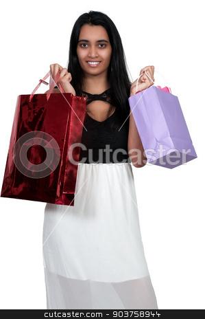 Woman Shopping stock photo, Beautiful multi ethnic diverse woman on a shopping spree by Robert Byron