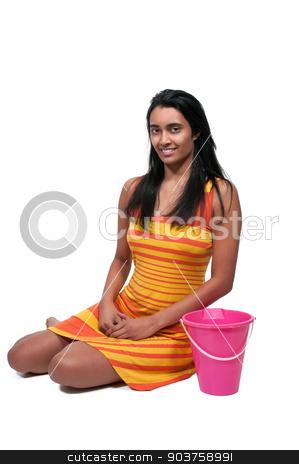 Beautiful Woman stock photo, Beautiful young sexy woman wearing a floppy hat by Robert Byron