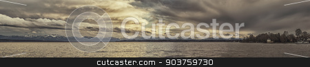 panoramic view to the bavarian alps stock photo, An image of a panoramic view to the bavarian alps by Markus Gann
