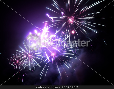FIreworks in any European city at New Years eve stock photo, FIreworks in any European city at New Years eve 2015 - 2016 by Viktor