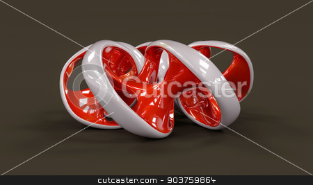 Endless twisted torus jewel - 3D concept illustration stock photo, Endless twisted torus jewel - 3D concept illustration by Andrej Kaprinay