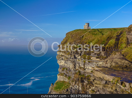 Cliffs of Moher in County Clare stock photo, Cliffs of Moher in County Clare, Ireland by Viktor