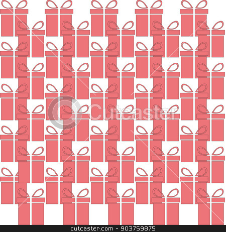 gift box web icon, flat design. Seamless pattern. Vector stock vector clipart, gift box web icon, flat design. Seamless pattern. Vector illustration by Serhii
