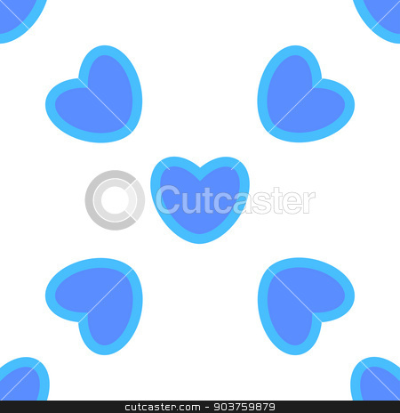 Valentines day.background with blue hearts.Seamless patter stock vector clipart, Valentines day.background with blue hearts.Seamless pattern. Vector by Serhii