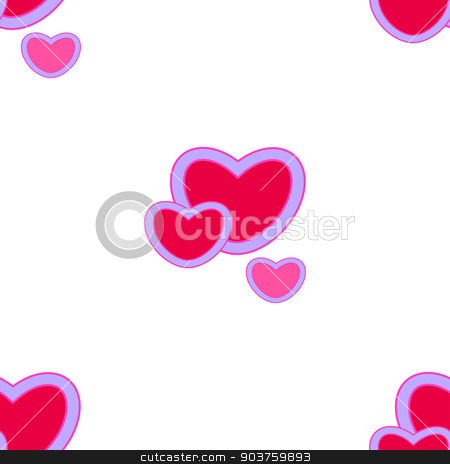 Valentines day.background with red hearts.Seamless pattern stock vector clipart, Valentines day.background with red hearts.Seamless pattern. Vector by Serhii