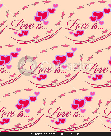 Love is... Red heart Valentines day seamless pattern. gift wrap stock vector clipart, Love is.. Red heart. Valentines day. seamless pattern by Serhii