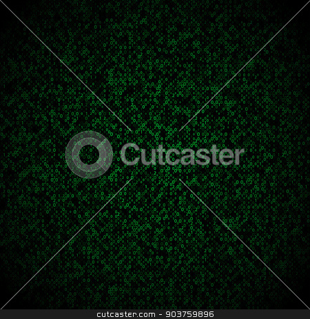 Matrix background with the green symbols, motion blur. Vector stock vector clipart, Matrix background with the green symbols, motion blur. Vector illustration by Serhii