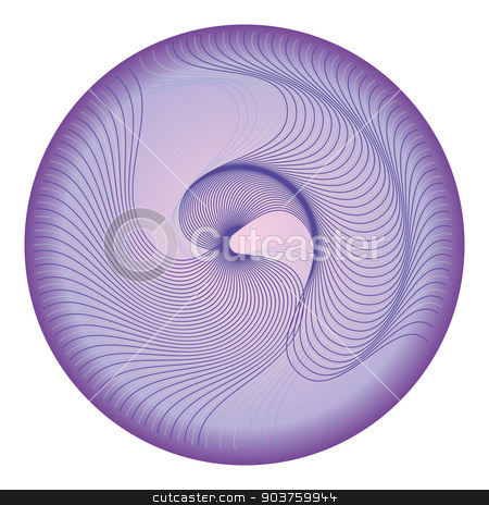 Circle with waves stock vector clipart, Circle with waves by Bianca Wisseloo