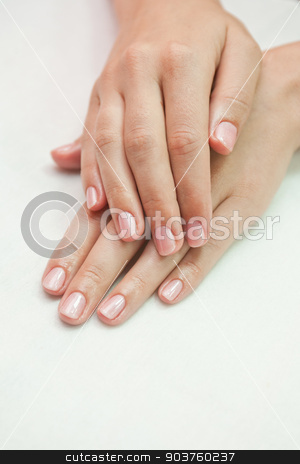 woman nails stock photo, care for sensuality woman nails by olinchuk