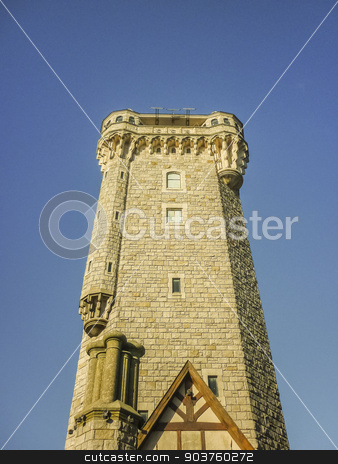 Torre Tanque Mar del Plata stock photo, Torre tanque is an historic monument located in Mar del Plata with a beautiful viewpoint of the building that allows see the city towards the four cardinal points by Daniel