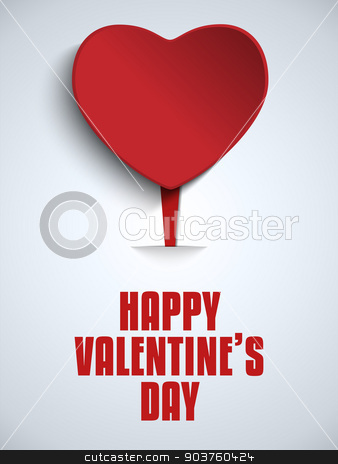 Happy Valentine Day Love Heart stock vector clipart, Vector - Happy Valentine Day Love Heart by Augusto Cabral Graphiste Rennes