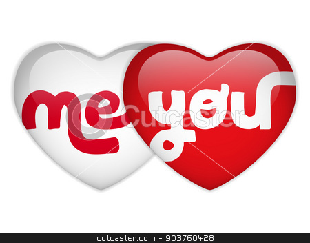 Valentine Day Me and you Heart stock vector clipart, Vector - Valentine Day Me and you Heart by Augusto Cabral Graphiste Rennes