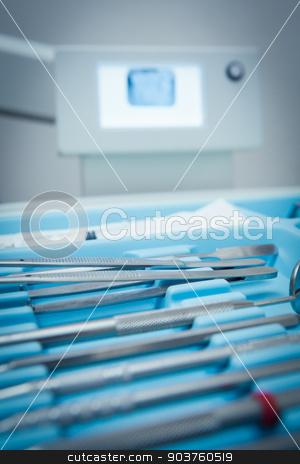 Dental tools stock photo, Close up of dental tools by Wavebreak Media