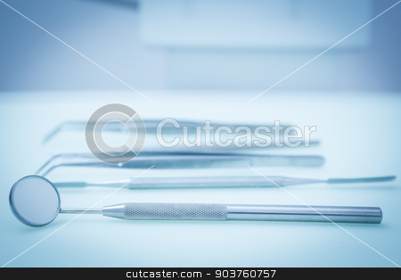 Dental tools stock photo, Close up of dental tools by Wavebreak Media