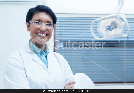Portrait of female dentist stock photo, Portrait of smiling young female dentist by Wavebreak Media