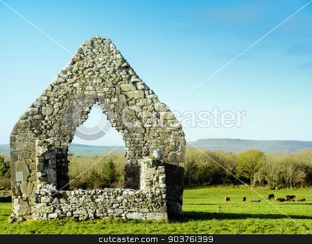 Church ruin in sunny day  stock photo, Church ruin in sunny day , Ireland by Viktor
