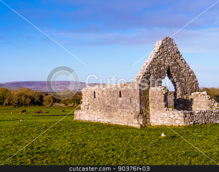 Church ruin in sunny day  stock photo, Church ruin in sunny day , Ireland by Viktor