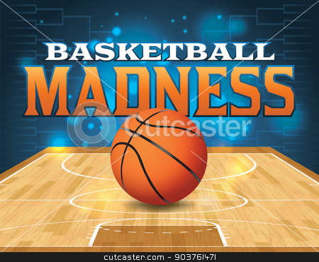 Basketball Tournament Illustration stock vector clipart, An illustration for a basketball tournament. Vector EPS 10 available. EPS file contains transparencies and is layered. Type has been converted to outlines. by Jason Enterline