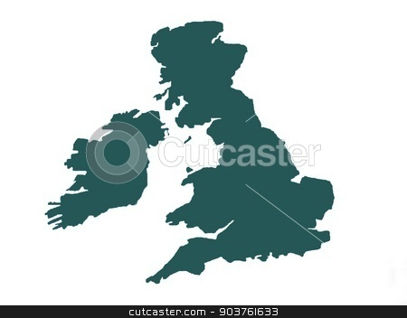 shape of The United Kingdom of Great Britain and Northern Ireland stock photo, abstract by Saphire Ovadia