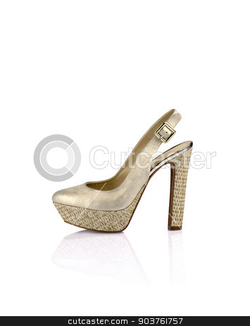 Womens fashion shoes stock photo, Modern womens fashion shoes isolated on white background by Nikita Buida