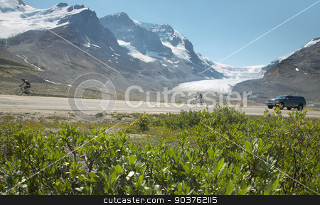 Columbia Icefield landscape in Alberta. Canada stock photo, Columbia Icefield landscape in Alberta. Canada. Horizontal by ABBPhoto