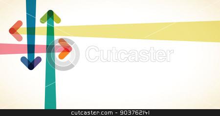 arrow background stock vector clipart, arrow background by jameschipper