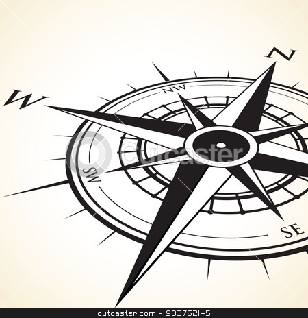 compass background stock vector clipart, compass background by jameschipper