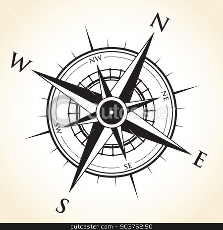 compass background stock vector clipart, compass background by jameschipper