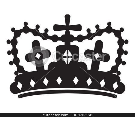 crown silhouette stock vector clipart, crown silhouette by jameschipper