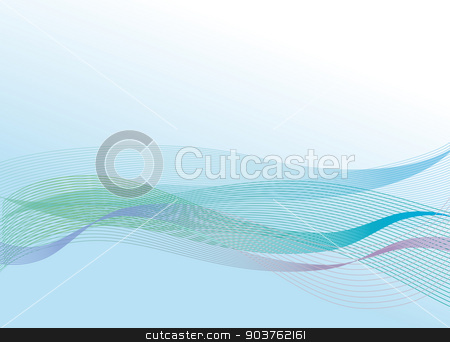 Waves stock vector clipart, Abstract waves by Bianca Wisseloo