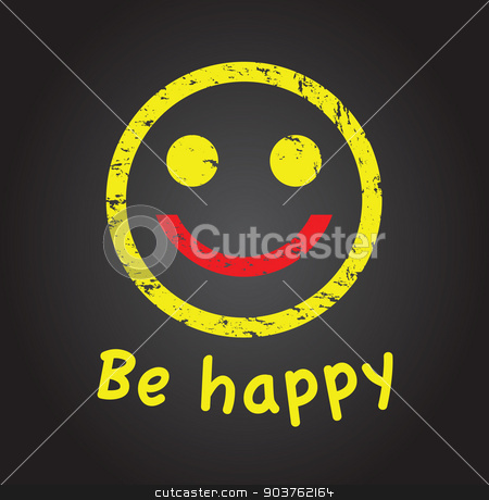 happy face stock vector clipart, happy face by jameschipper