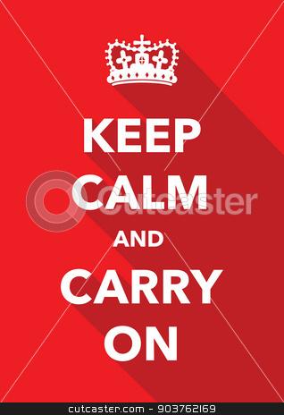 keep calm poster stock vector clipart, keep calm poster by jameschipper