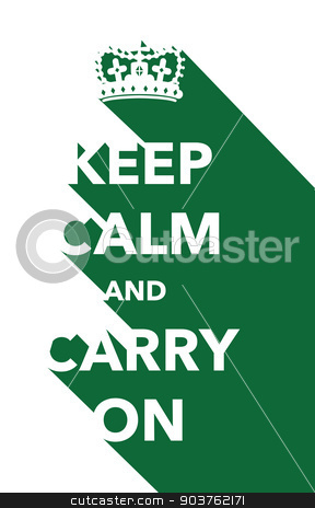 keep calm poster stock vector clipart, keep calm poster by jameschipper