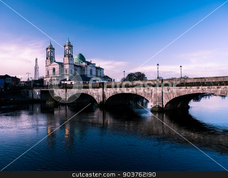 Athlone bridge and river at day  stock photo, Athlone bridge and river at day time by Viktor