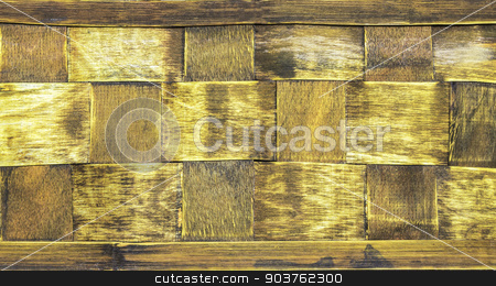 Wood wicker background stock photo, Closeup texture and pattern of wood wicker background by manusy