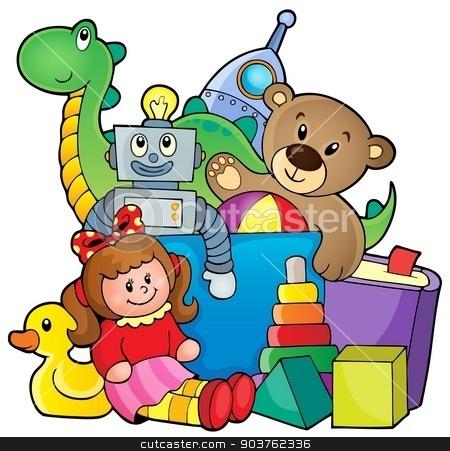 Heap of toys stock vector clipart, Heap of toys - eps10 vector illustration. by Klara Viskova