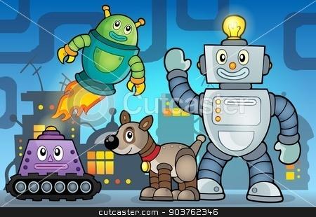 Robot theme image 6 stock vector clipart, Robot theme image 6 - eps10 vector illustration. by Klara Viskova