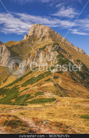 Belianske Tatry stock photo, Scenic mountain peak of Belianske Tatry in Slovakia on sunny autumn day by Michal Knitl
