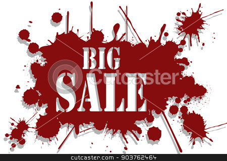 Big sale background stock vector clipart, Illustration of a symbol of seasonal discounts as a backdrop for a big sale. by Andrija Markovic